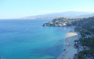 spiaggia di caminia panorama