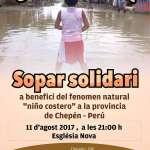 SOPAR SOLIDARI · 11 d'agost a les 21h. a l'Església Nova de Son Servera