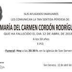 María del Carmen Cordón Rodríguez