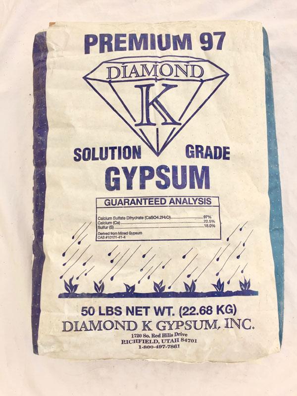 50 LB BAG GYPSUM