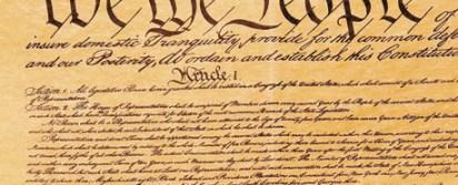 """העותק המקורי של החוקה האמריקאית. """"פוליטיקאים, בכל מדינה, מתקשים להיות הוגנים"""""""