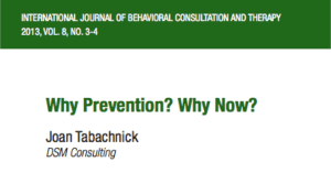 Why Prevention? Why Now?