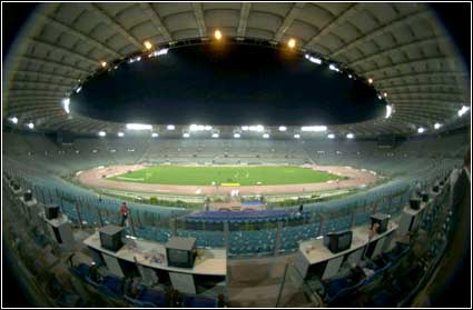 The Stadio Olimpico in a quieter moment