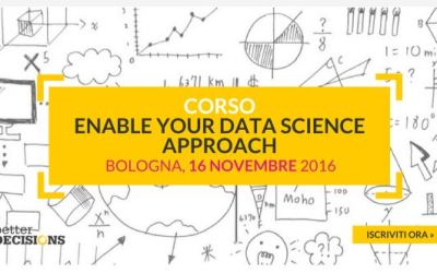 "A Bologna il corso ""Enable your Data Science approach"""