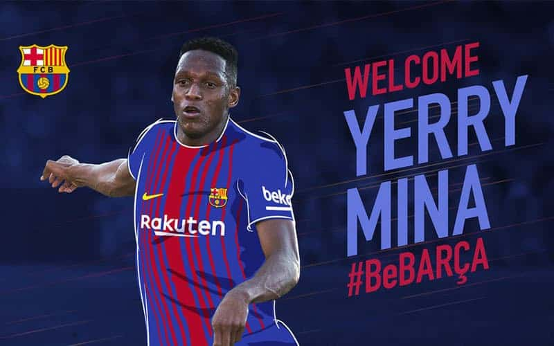 UFFICIALE il Barcellona ingaggia Yerry Mina dal Palmeiras. Era seguito dalla Sampdoria