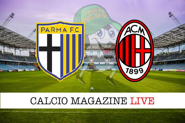 ParmaMilan 11 cronaca diretta live risultato in tempo