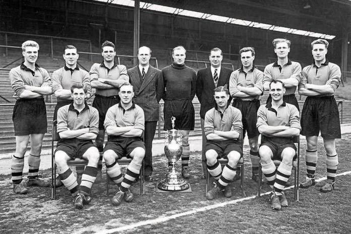 Il Wolverhampton vincitore della FA Cup nel 1908