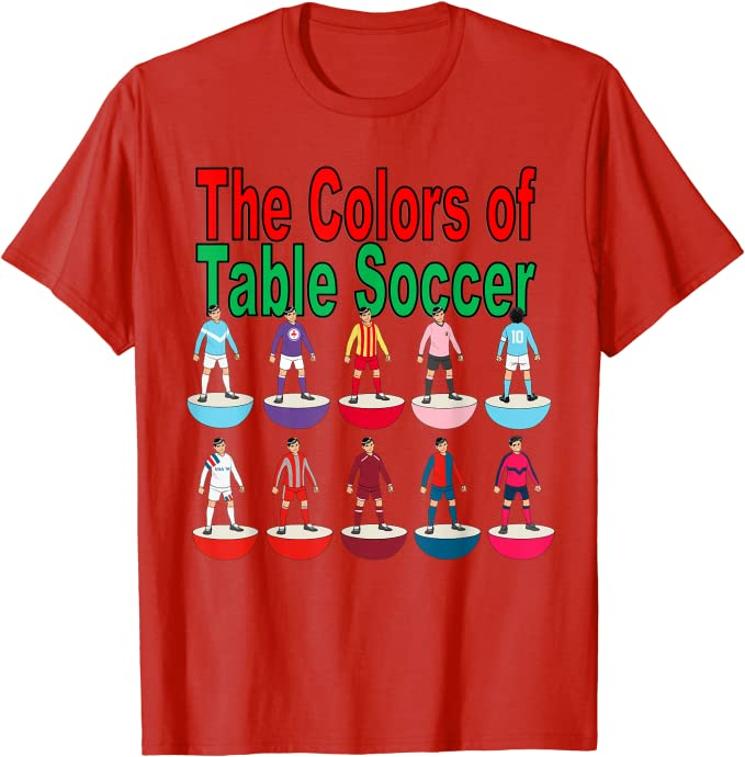 colors of table soccer