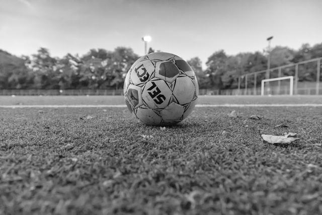 calcio in bianco e nero