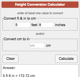 height converter ft to
