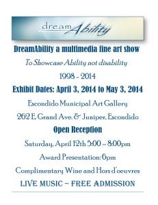 DreamAbility Fine Art Show @ Escondido Municipal Art Gallery | Escondido | California | United States