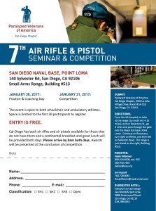 PVACD 7th Air Rifle & Pistol Seminar & Competition @ Point Loma Naval Sub Base