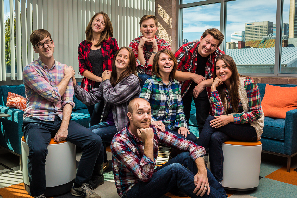 Flannel Friday at Dynamic Web Solutions with a 35mm lens