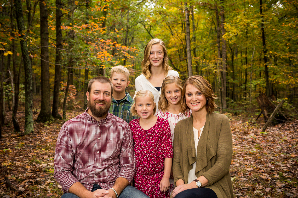 fall family photo of the Josh Keiter family