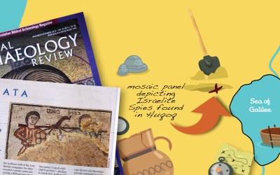 Israelite Spies Mosaic Found at Huqoq