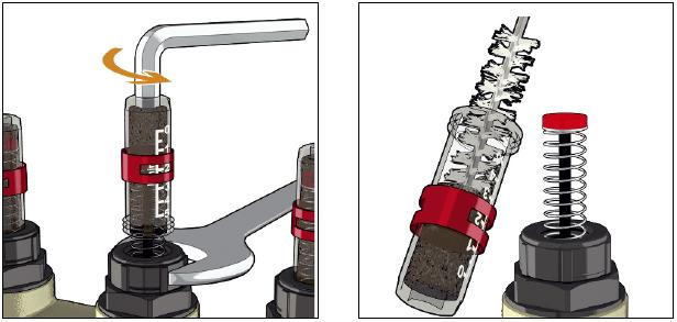 Comment Nettoyer Le Debitmetre D Un Collecteur Pour Installation Plancher Chauffant Serie 664 Caleffi