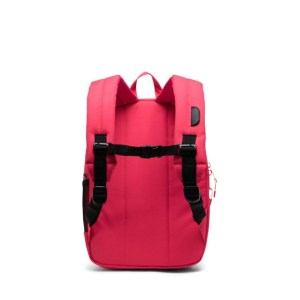 """Herschel zaino in tessuto """"Heritage Youth"""" Rosa HERITAGE YOUTH.4509 red/blk sp"""