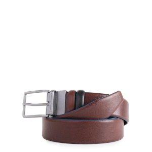 "Piquadro cintura reversibile in pelle ""B2S – Blue Square Special"" Nero/marrone CU4878B2S.TMN"