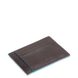 """Piquadro porta carte di credito in pelle """"B2 – Blue Square"""" Marrone PP2762B2.MO"""