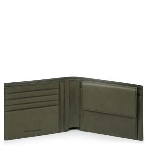 "Piquadro portafogli in pelle ""B3R – Black Square"" Verde PU257B3R.VE"