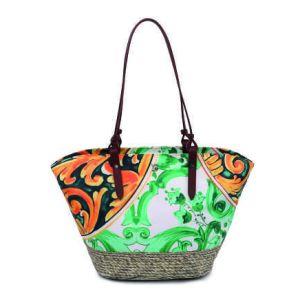 "YNot? borsa mare in tessuto M ""Lipari"" Fantasia LIP-002.Green"