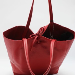 "Caleidos borsa shopping in pelle ""Range 07A"" Rosso 07A-01.Rosso"