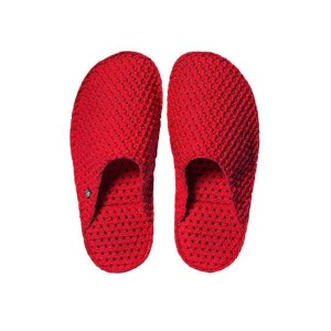 "Le DD pantofole in lattice ""Dream Slides"" Rosso LE-M75.RED"