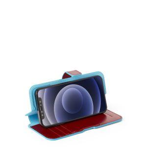 "Piquadro cover magnetica in pelle per iPhone® 12 ""B2R"" Rosso AC5623B2R.R"