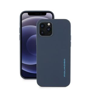 "Piquadro cover magnetica in silicone per iPhone® 12 Pro ""BM"" Grigio AC5640BM.GR"