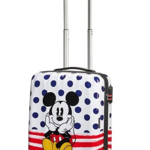 """American Tourister trolley cabina in abs """"Legends Disney"""" Fantasia 92699.9072 mickey blue dots"""