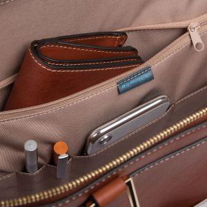 "Piquadro borsa cartella da lavoro in pelle ""Dafne"" Cuoio CA5511DF.CU"
