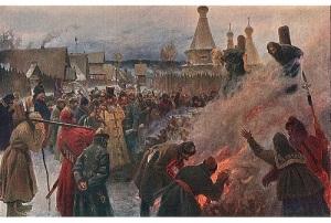 В Пустозерске был сожжен Аввакум Петрович, глава старообрядчества