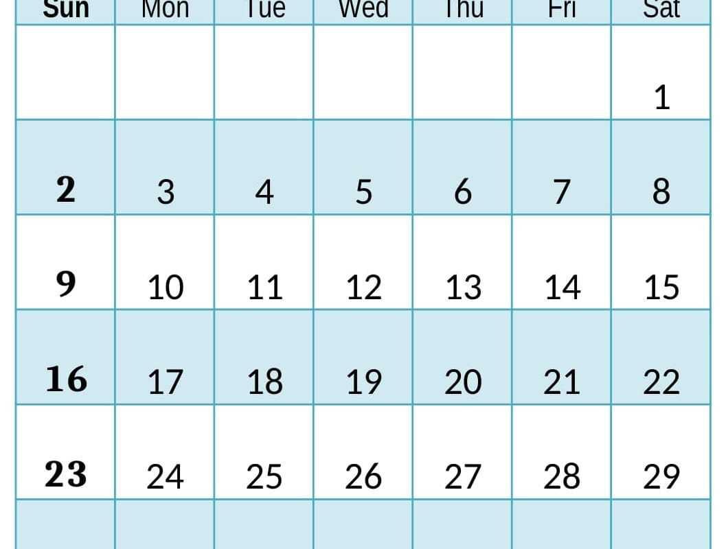Free Printable August 2020 Calendar Cute