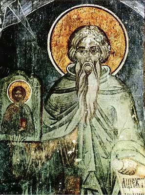 Teofan Marturisitorul - fresca din România