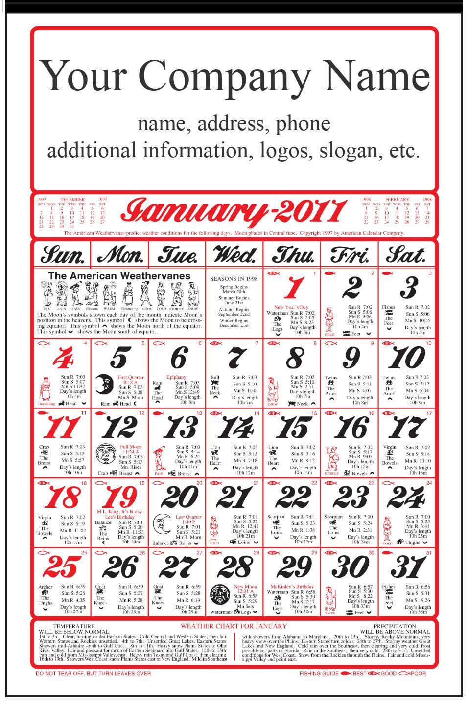 2019 at a glance calendar