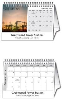 2019 Custom Tent Desk Calendar: Calendar Company