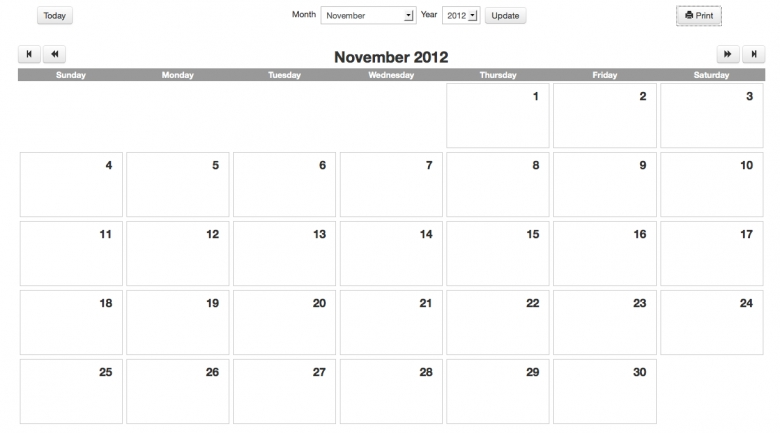 Printable Calendar For Teachers :-Free Calendar Template