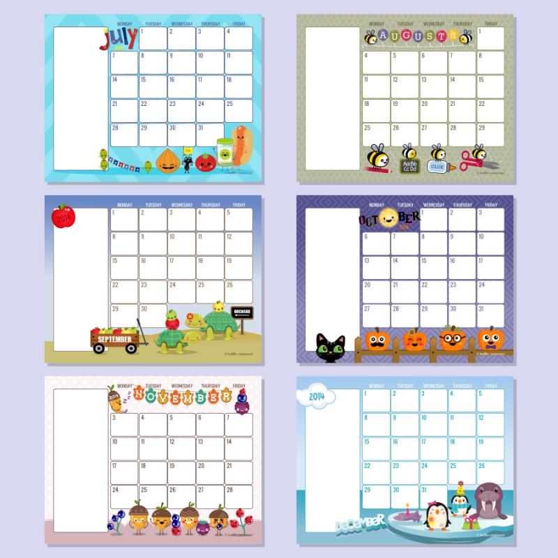 Free Printable Preschool Calendar Template :-Free Calendar ...