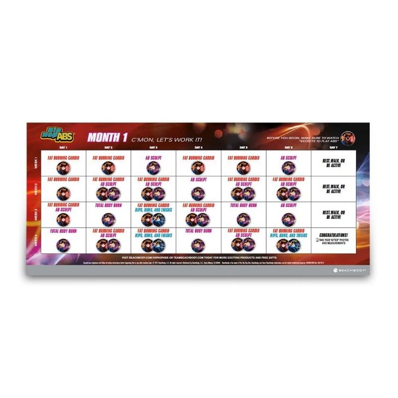 Shaun T Hip Hop Abs Calendar Printable Free Calendar Template