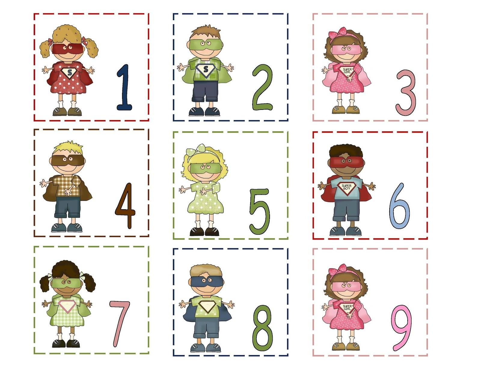 Number 1 To 31 Printable Free Calendar Template