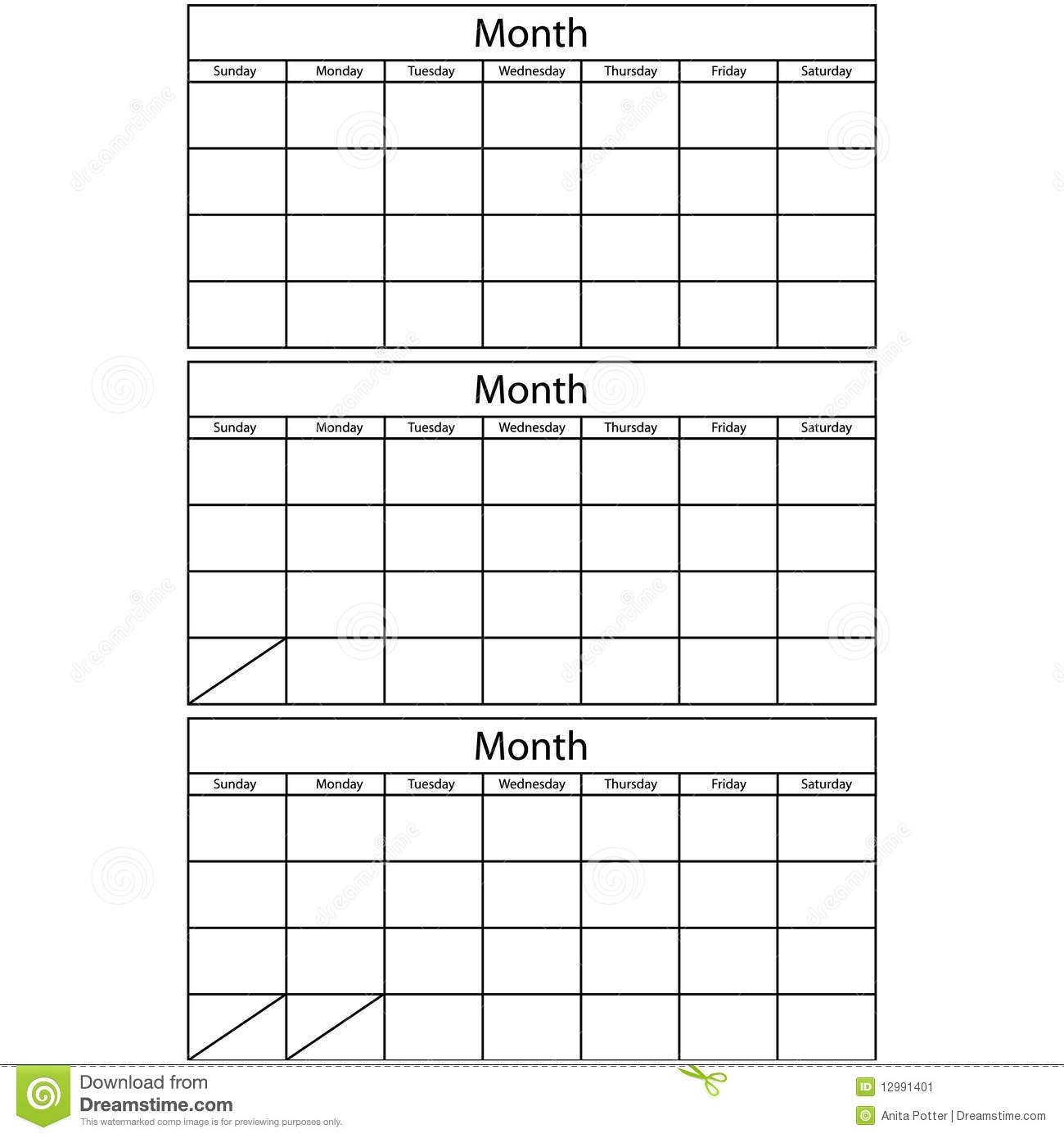 Printable Multi Month Calendars :-Free Calendar Template