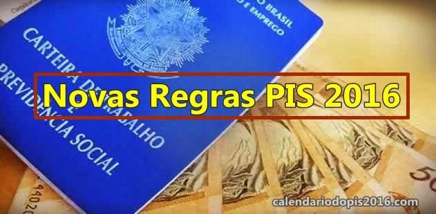 novas regras do PIS 2016