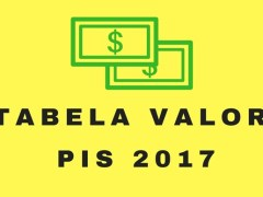 tabela valor do pis 2017-2018