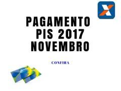 Pagamento PIS 2017 nascidos em Novembro