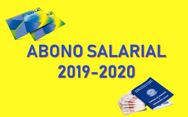 Abono salarial 2019-2020