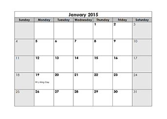 photo regarding Printable Blank Monthly Calendar called Printable Blank Every month Calendar 2015 - Cost-free Obtain