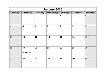 photo regarding Printable Blank Monthly Calendar called Printable Blank Every month Calendar 2015 - Cost-free Obtain