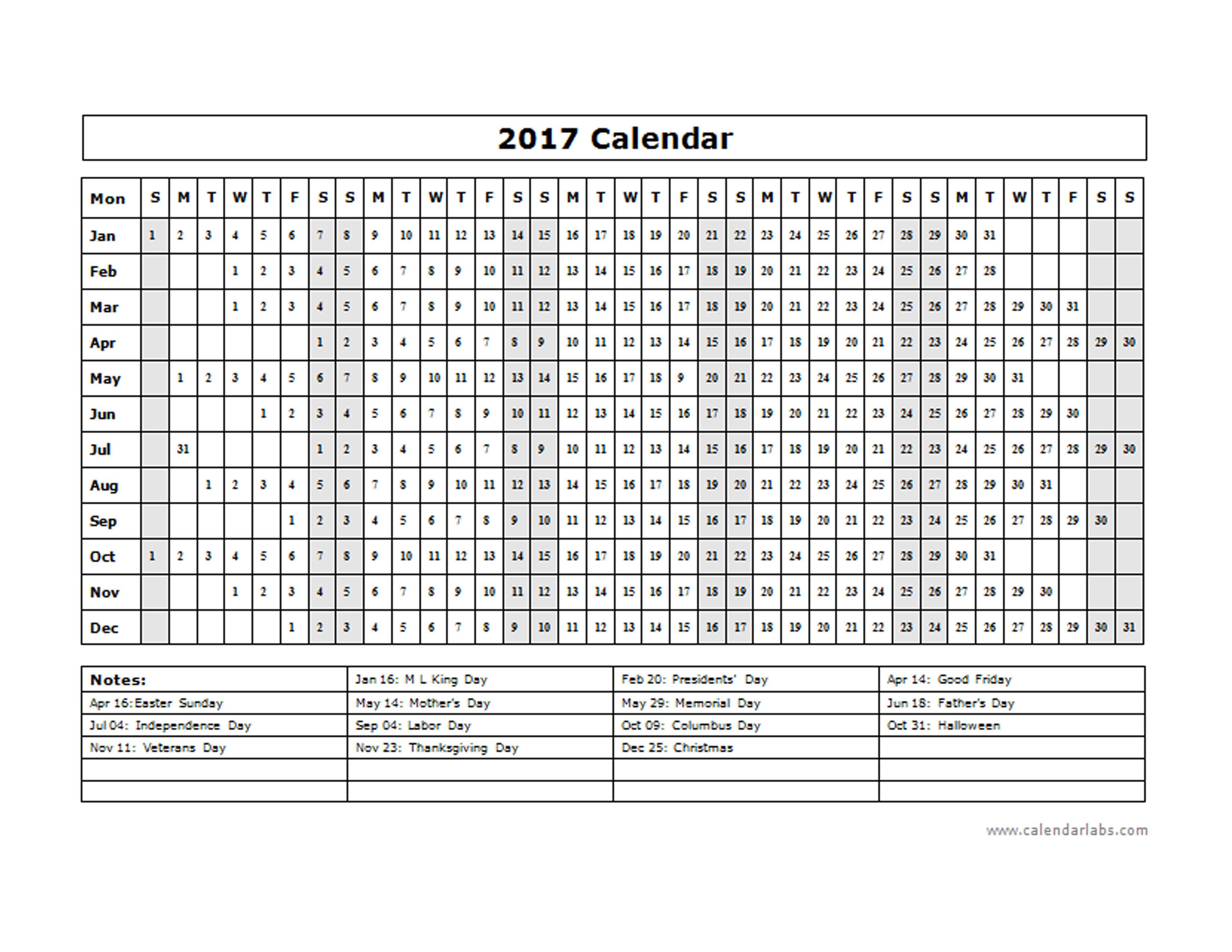blank calendar day