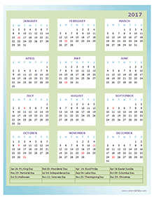 Two Year calendar Template 2017 and 2018 - Free Printable Templates
