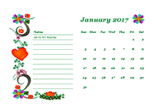 2017 Blank Calendar Templates - Download Free 2017 Printable Blank ...